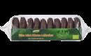 Feine Mini-Oblaten-Lebkuchen mit Schokoladenglasur