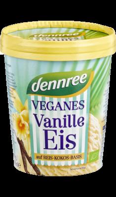 Veganes Vanille-Eis auf Reis-Kokos-Basis