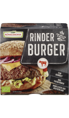 Burger aus 100% deutschem Rindfleisch, tiefgefroren