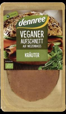 Veganer Aufschnitt auf Weizenbasis Schinken-Art Kräuter