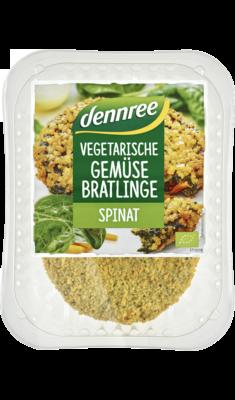Vegetarischer Gemüsebratling Spinat