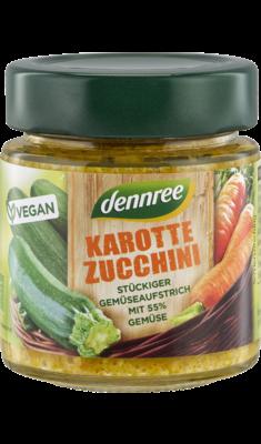 Karotte-Zucchini stückiger Gemüseaufstrich mit 55% Gemüse