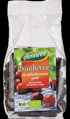 Cranberries mit Apfelsaftkonzentrat gesüßt