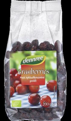 Cranberries mit Apfelsaftkonzentrat gesüßt, 200 g