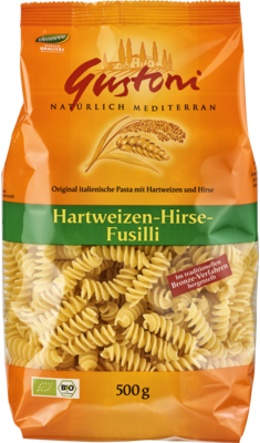 Hartweizen-Hirse-Fusilli