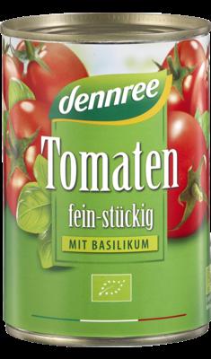 Tomaten fein-stückig mit Basilikum