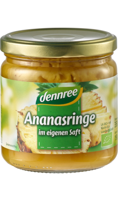 Ananasringe im eigenen Saft