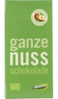 Ganze Nuss-Schokolade