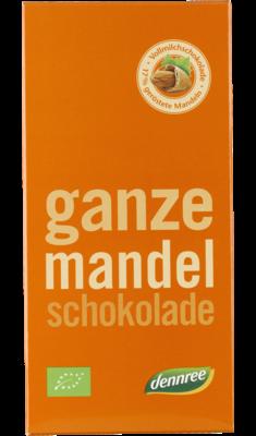 Ganze Mandel-Schokolade