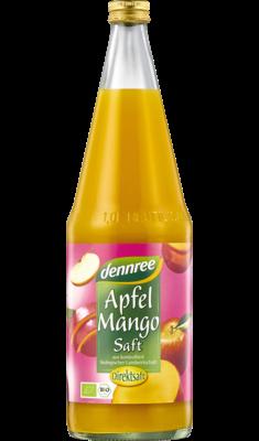 Apfel-Mango-Saft in der Flasche, 1 l