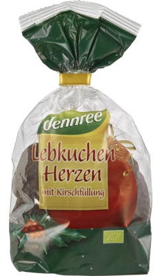 Lebkuchenherzen mit Kirschfüllung